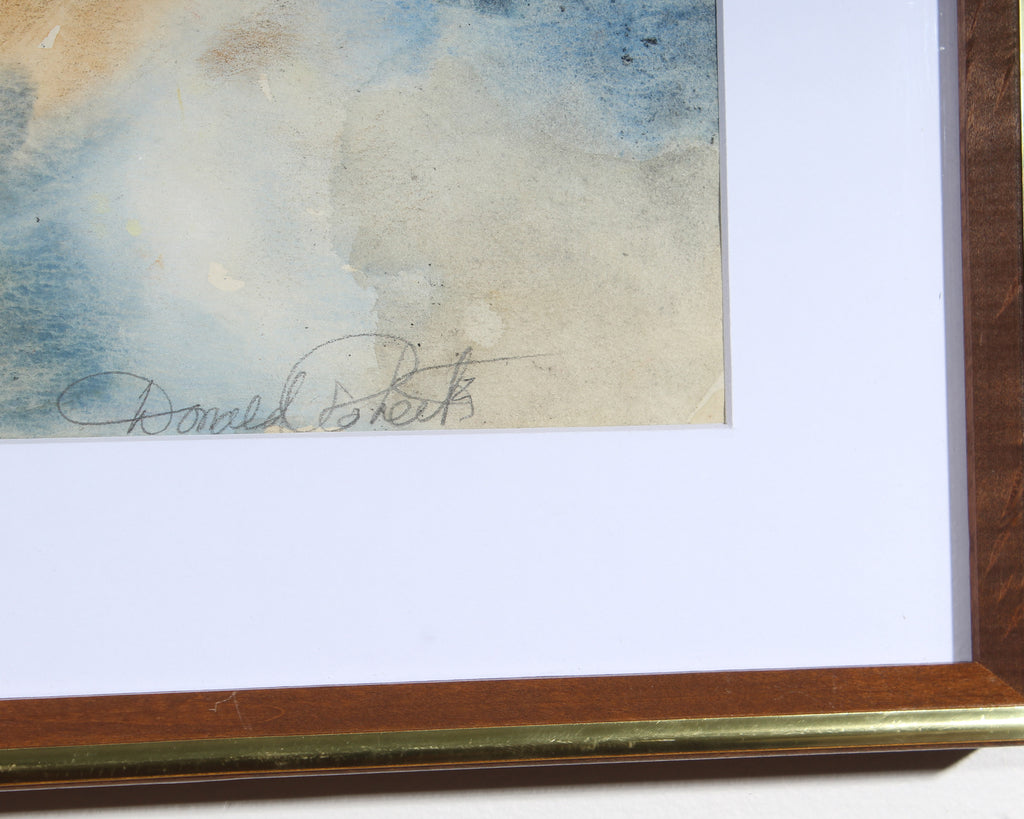 Donald Roberts Signed Non-Objective Mixed Media Painting