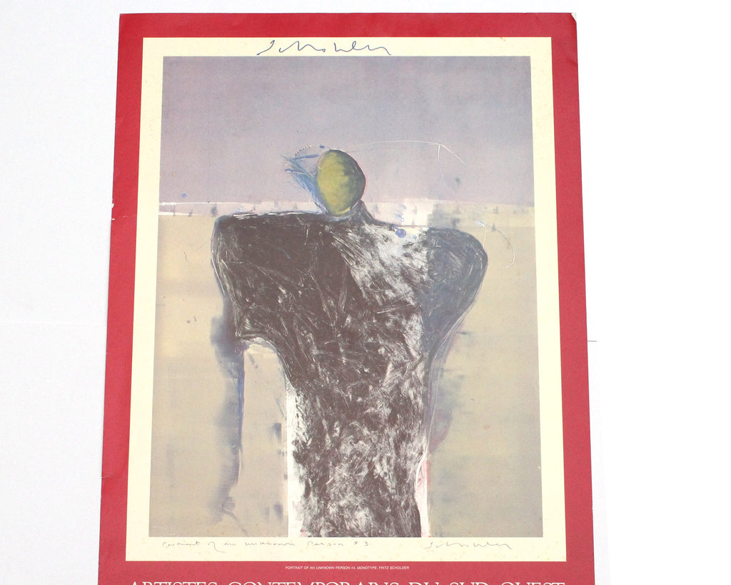 Fritz Scholder Signed 1982 Exhibition Poster