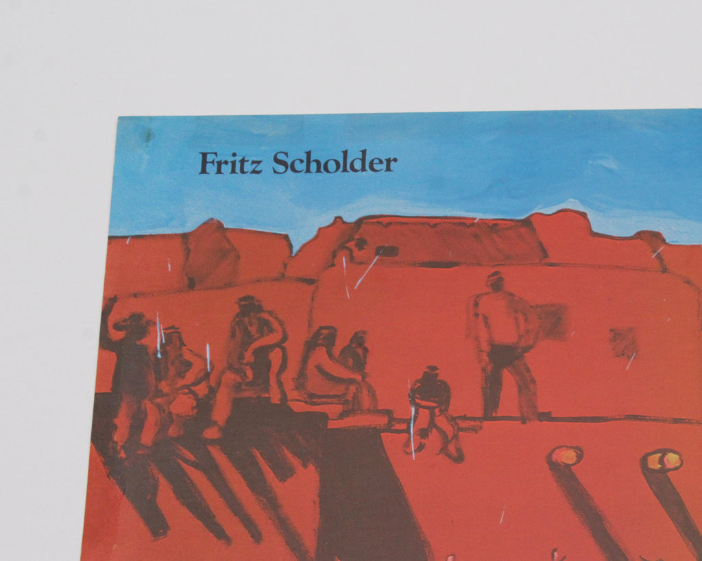 Fritz Scholder 1978 Signed Exhibition Poster