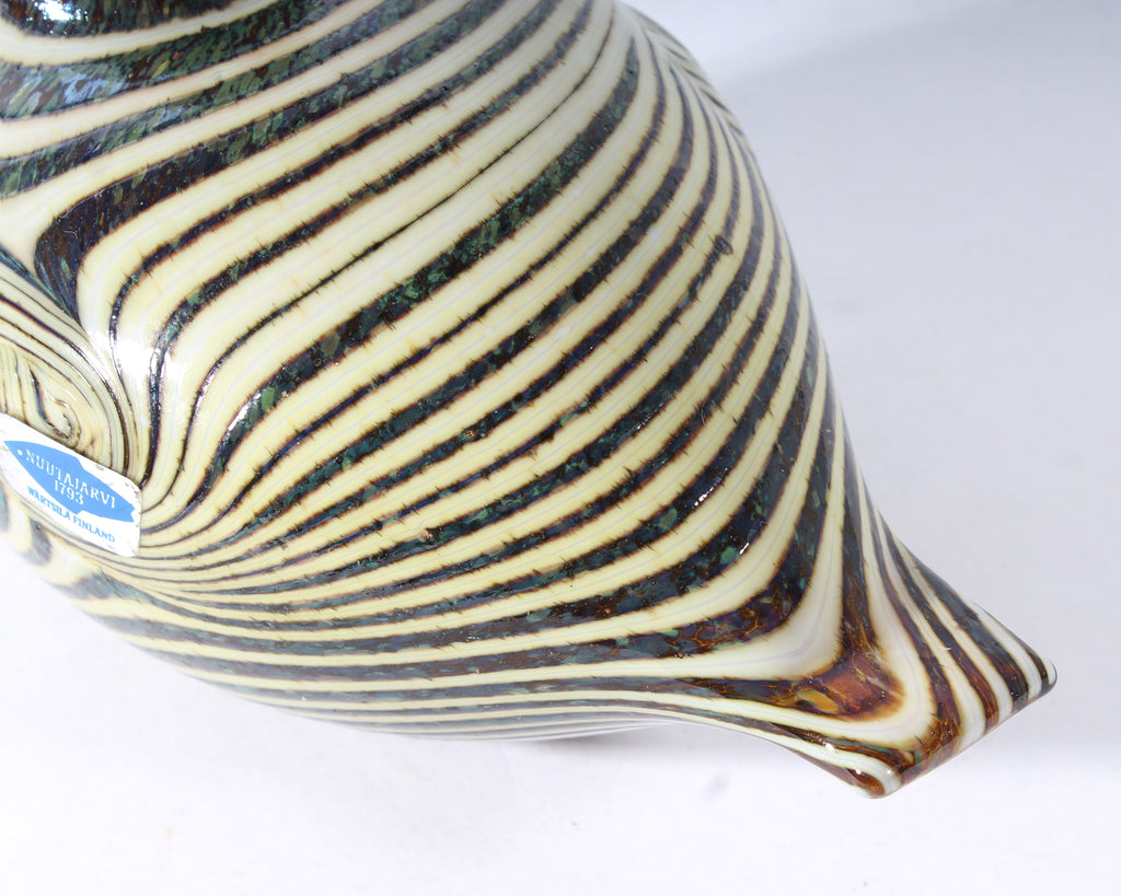 Oiva Toikka Nuutajärvi Finnish Striped Art Glass Bird