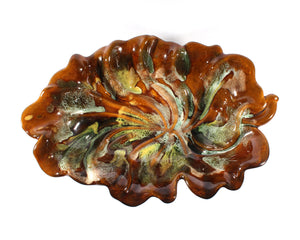 Van Briggle Art Pottery Leaf Bowl