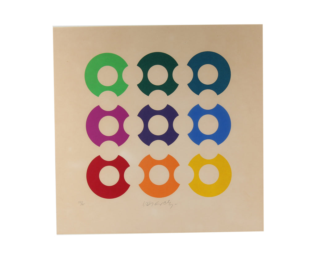 Victor Vasarely Signed Limited Edition Op Art Lithograph Print