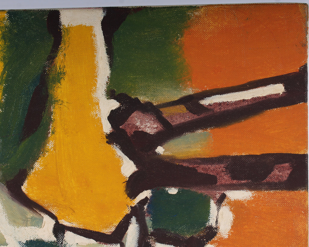 Vern Rader Abstract Oil on Board Painting