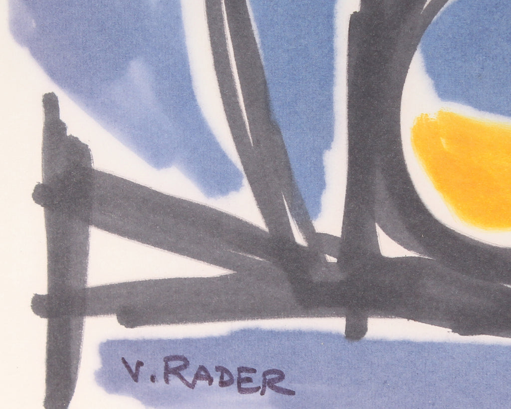 Vern Rader Signed Non-Objective Marker Drawing