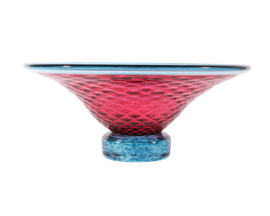 Young & Constantin Signed Pink and Blue Art Glass Bowl