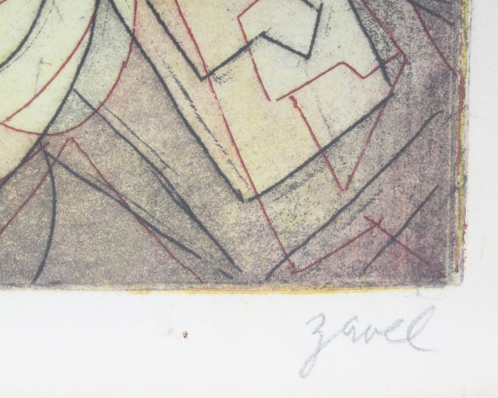 Zavel Silber Signed Artist's Proof Non-Objective Aquatint
