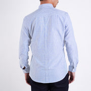 Oxford Slim Fit Shirt in Blue and White