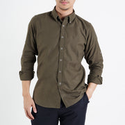 The Softest Slim Fit Shirt in Olive Green