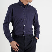Slim Fit Chevron Shirt in Blue