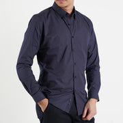 The Mini Polka Dot Slim Fit Shirt in Blue