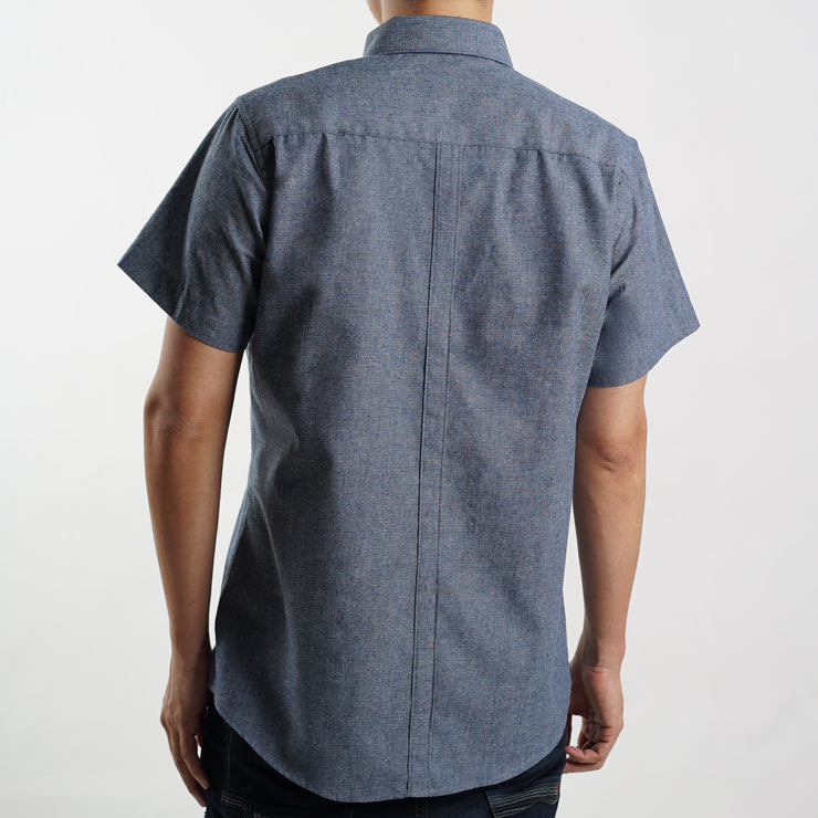 Oxford Summer Short Sleeve Shirt in Light Blue