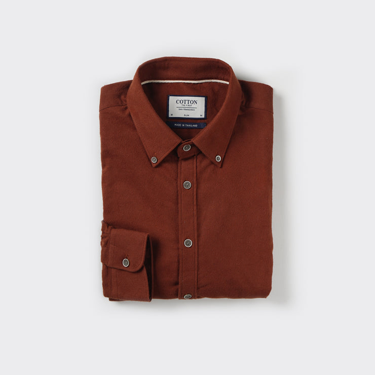 The Softest Slim Fit Shirt in Brick Orange