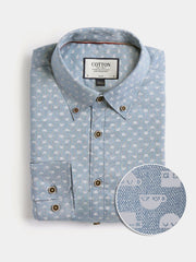 Cotton the First Stretch Slim Fit dress shirt. Shop local San Francisco Coffee Robots. Unique prints