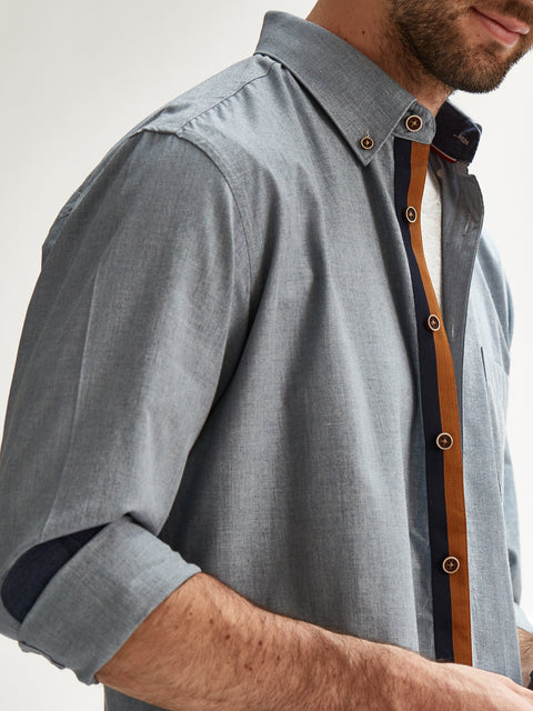 The Cool Chambray in Light Grey