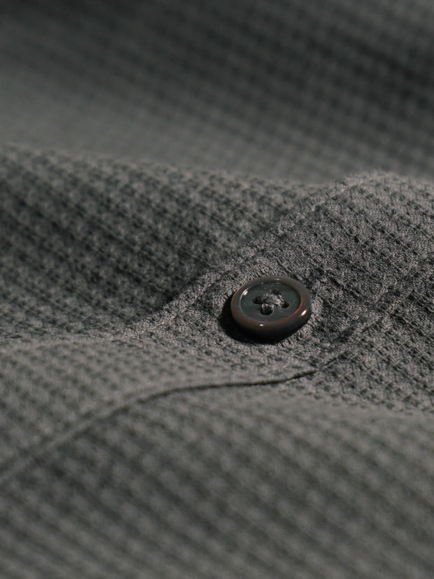 Cotton the First Slim Fit shirt. Shop local San Francisco style. Trim, Pique, performance, grey navy combo, pearl button
