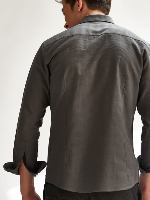 Textured Grey Shirt