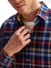 Flanneltastic in Red Blue Yellow Plaid