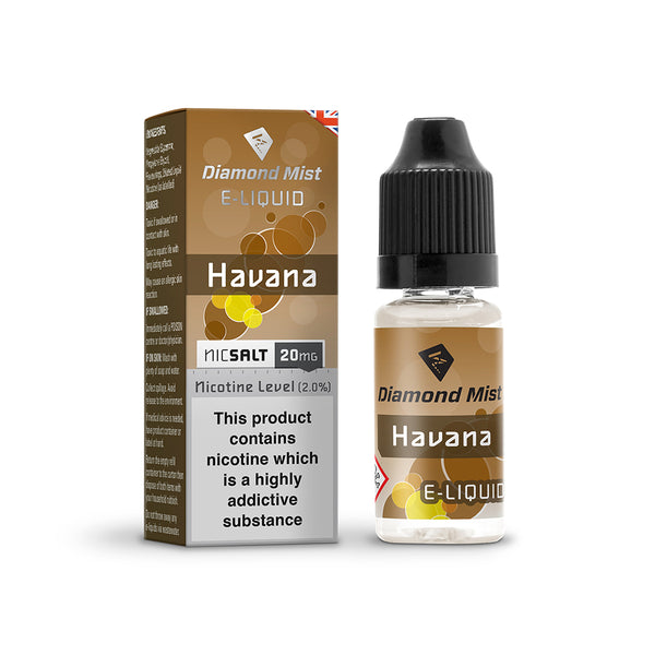 Diamond Mist Havana 20mg Nic Salt E-Liquid