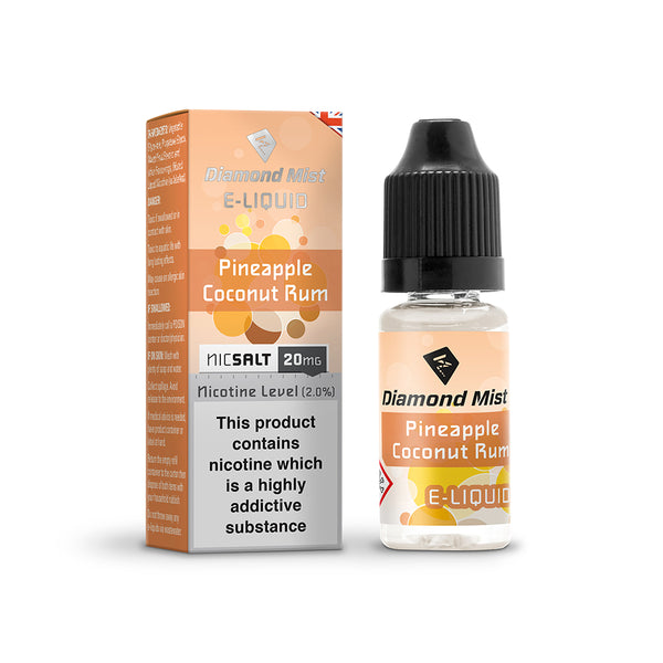 Diamond Mist Pineapple Coconut Rum 10mg Nic Salt E-Liquid