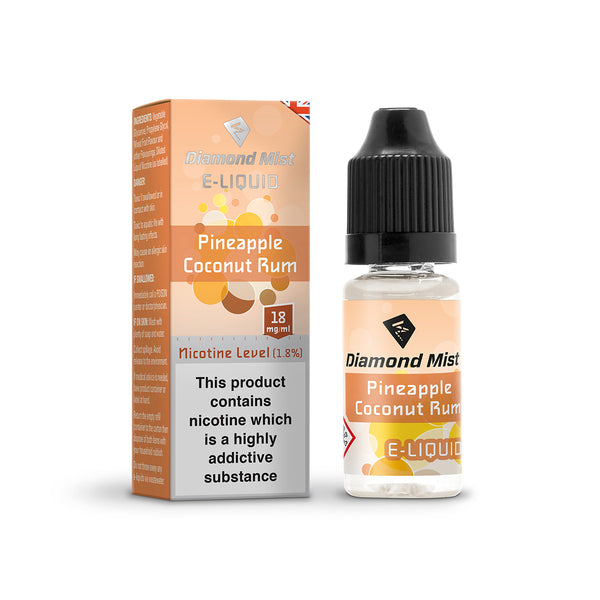 Diamond Mist Pineapple Coconut Rum 18mg E-Liquid