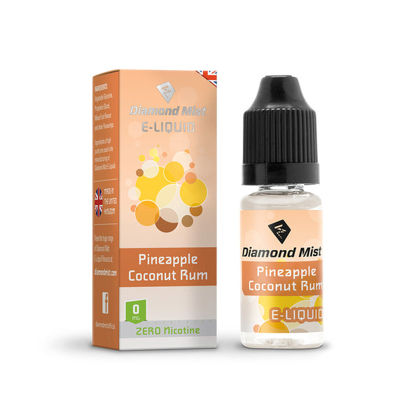 Diamond Mist Pineapple Coconut Rum 0mg E-Liquid