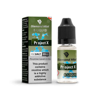 Diamond Mist Project X 10mg Nic Salt E-Liquid
