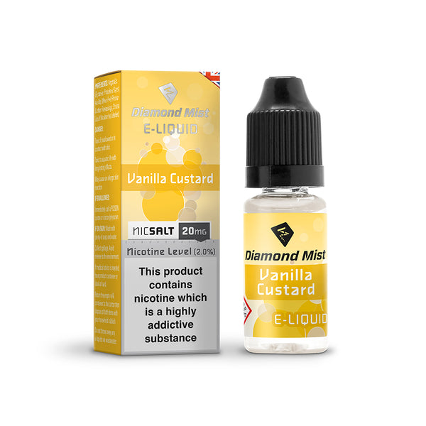 Diamond Mist Vanilla Custard 20mg Nic Salt E-Liquid