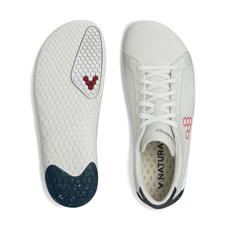 Vivobarefoot Geo Court Eco Mens White | Navy | Red