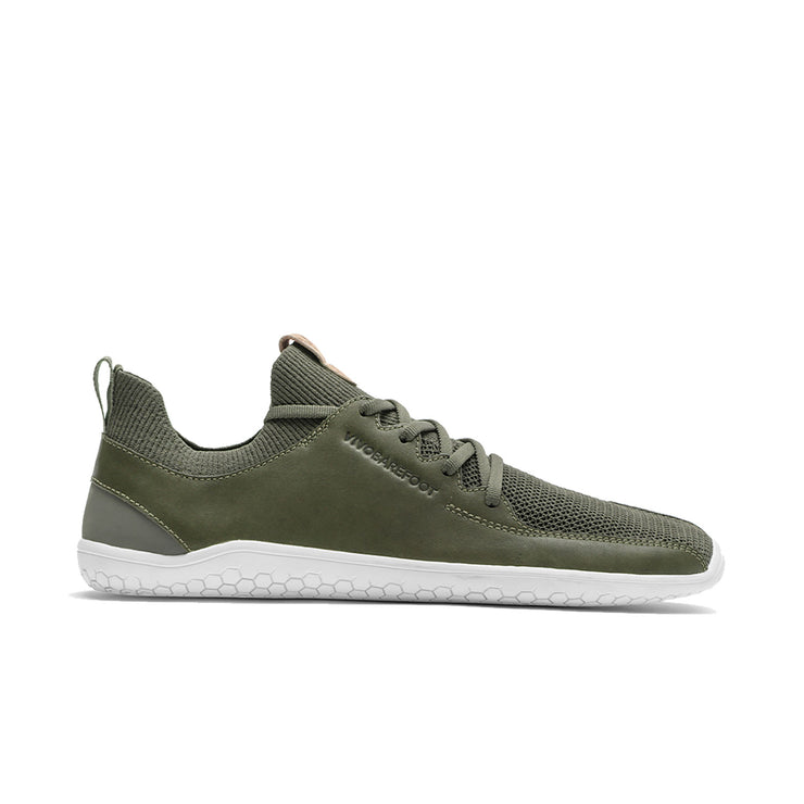 Vivobarefoot Primus Knit Womens Olive Green Leather