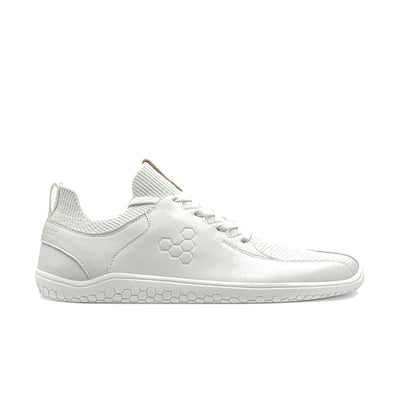Vivobarefoot Primus Knit Lux  Womens White Leather