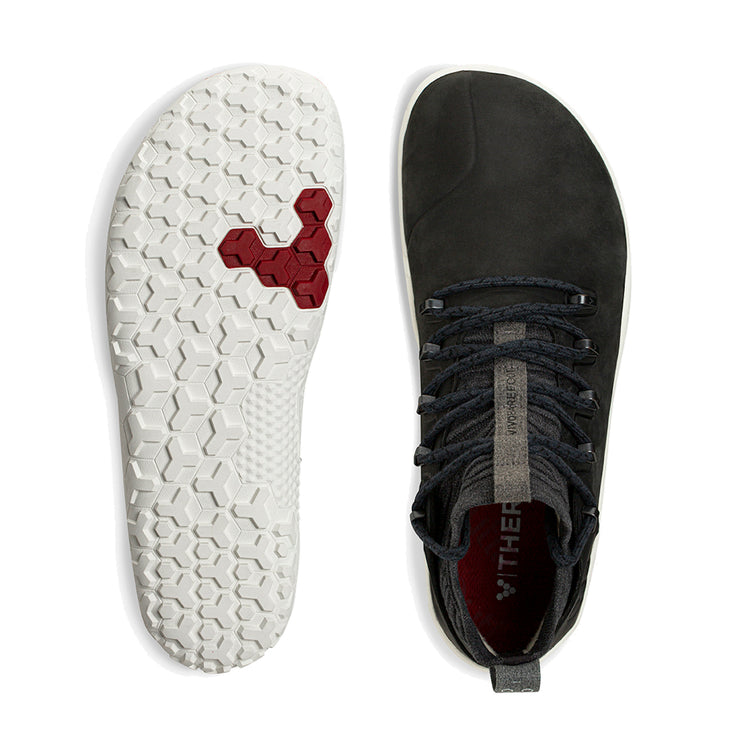 Vivobarefoot Magna Trail Leather & Wool Mens Obsidian
