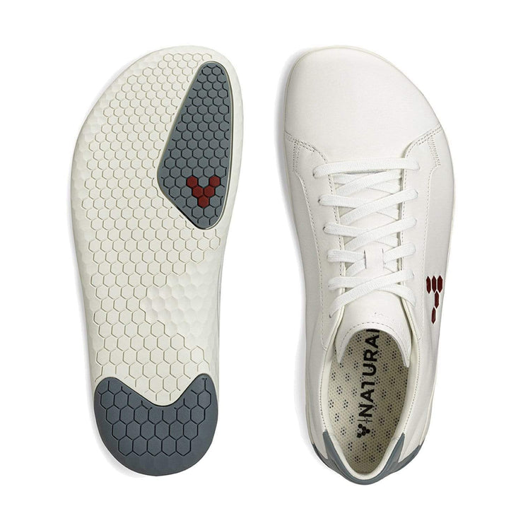 Vivobarefoot Geo Court Mens White Navy Red | Sole Distribution Australia