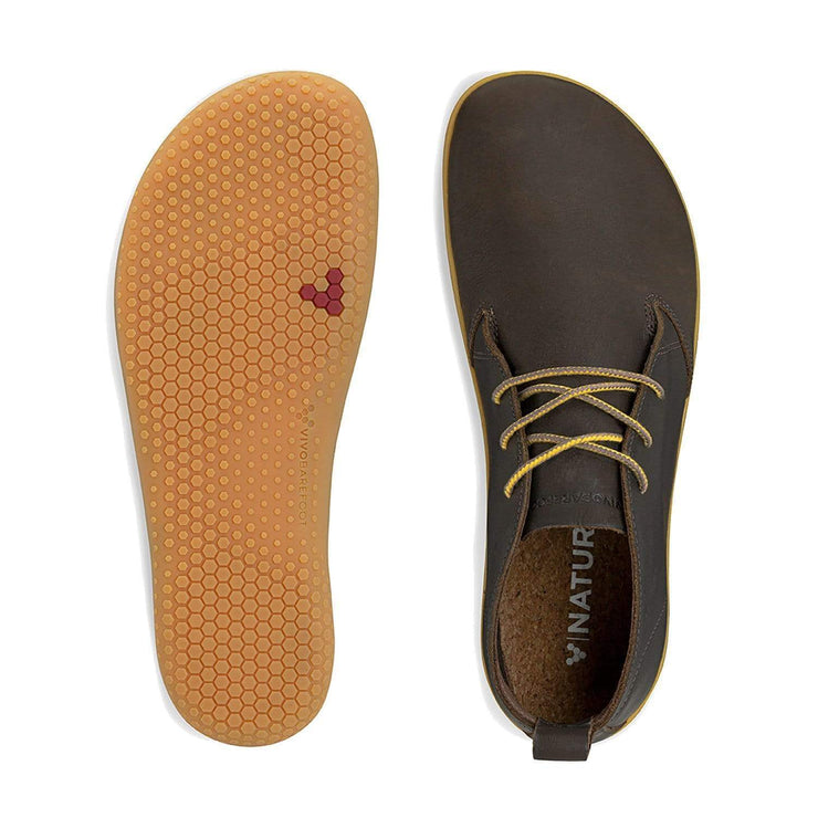 Vivobarefoot Gobi II Mens Leather Brown Hide | Proudly Distributed by Sole Distribution Pty Ltd Australia
