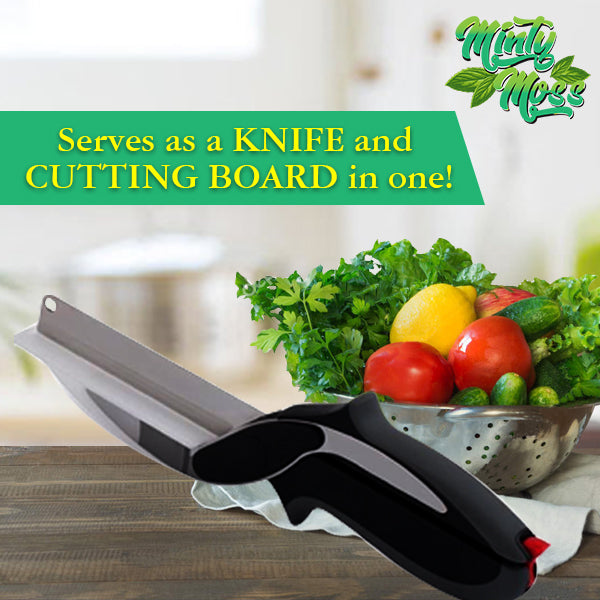 Clever 2-in-1 Cutting Board Scissors