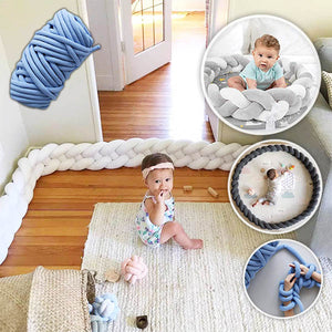 Knot-It-Yourself Soft Fluffy Baby Cot Bumper