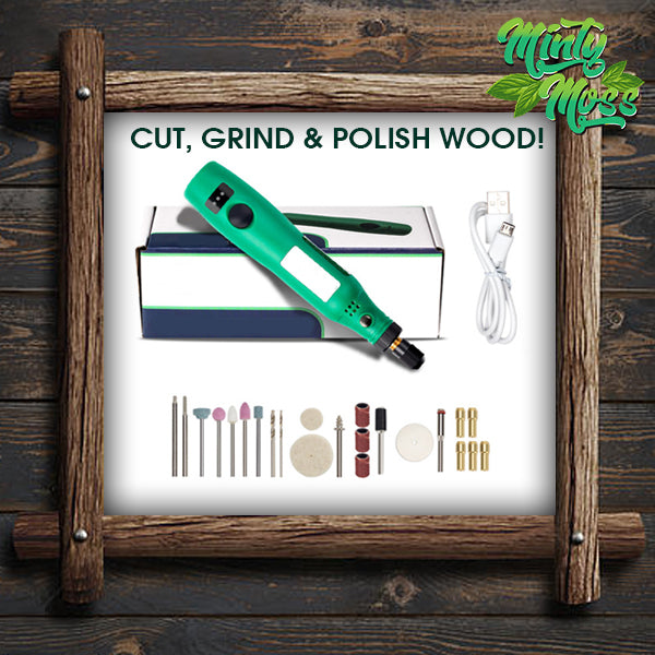 Wood Carving Rotary Drill Kit