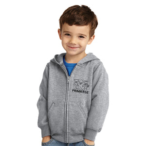 "497 Toddler Grey ""3 Friends"" Zippered Hoodie"