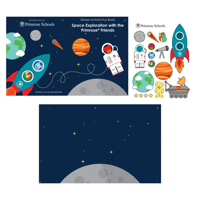PP114 Space Exploration Sticker Books, 5 pack($1.50 ea.)