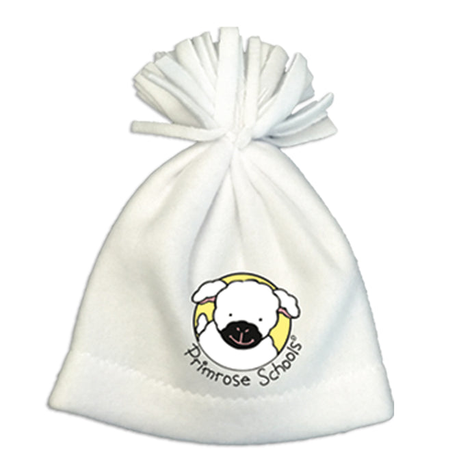 483 White Fleece Infant Hat