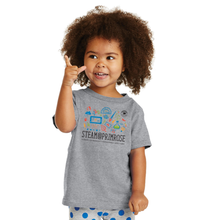Load image into Gallery viewer, Grey STEAM@PRIMROSE S/S Tee - Youth & Toddler Sizes