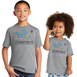Grey STEAM@PRIMROSE S/S Tee - Youth & Toddler Sizes