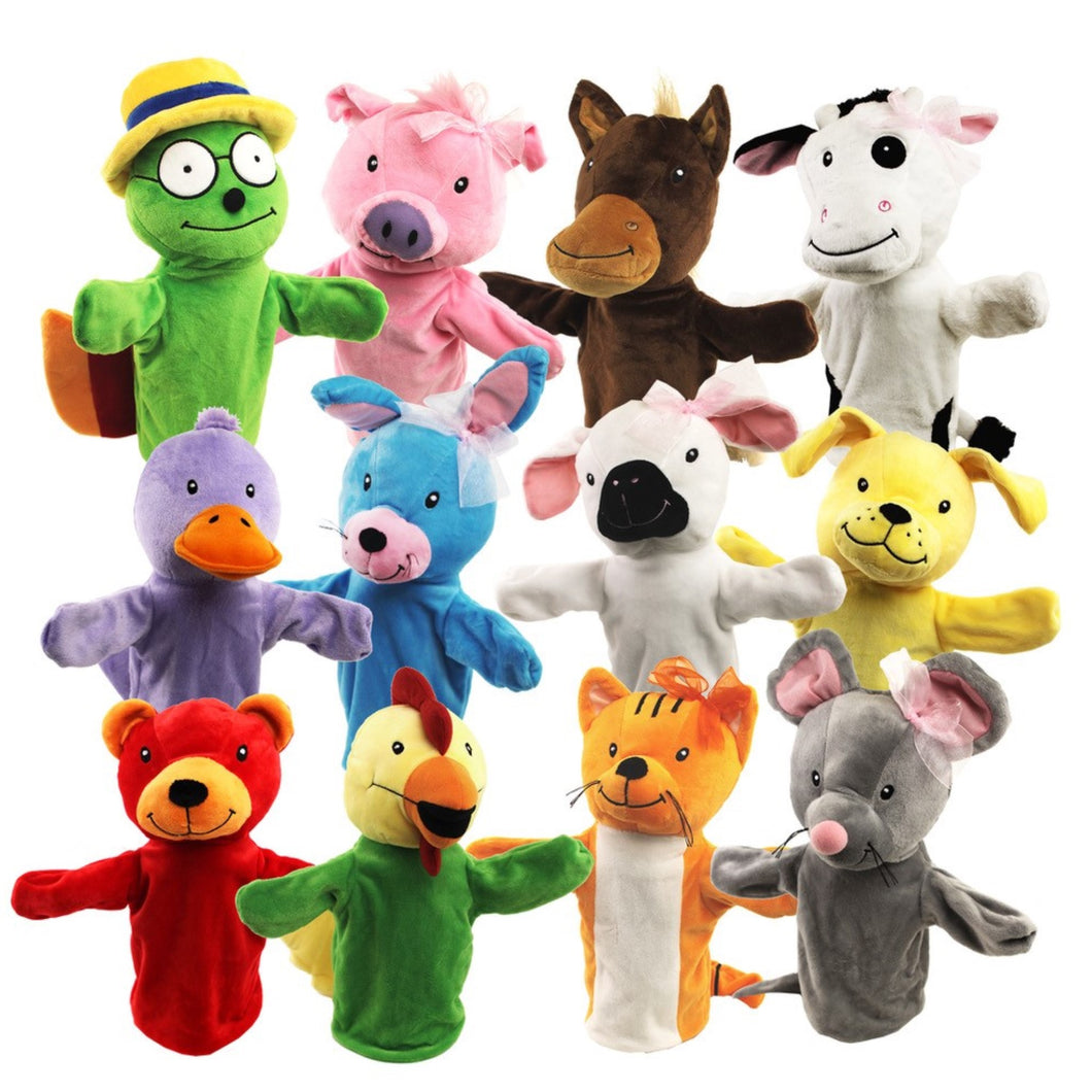 PP112 Friends Puppets, 12 Piece Set