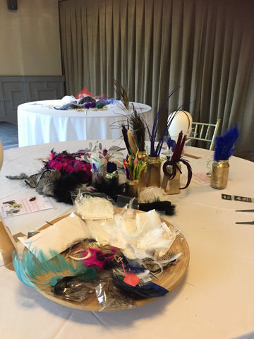 fascinator making class, three hour class, mobile milliner, tutor, little rose design, hen party, corporate, group of friends