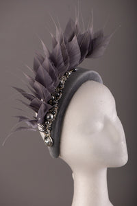 Grey Feather and Pearl Crown
