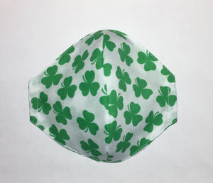 Irish Shamrock face mask