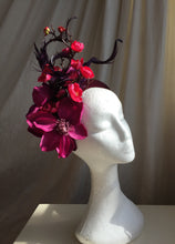 Load image into Gallery viewer, Pink, purple and magenta floral headpiece