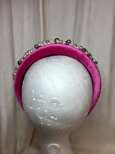 Load image into Gallery viewer, Hand beaded Pearl Velvet Headbands