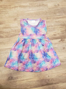 Watercolor dress (12-18m)