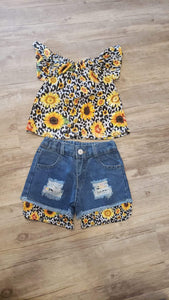 Sunflower outfit (18-24m)