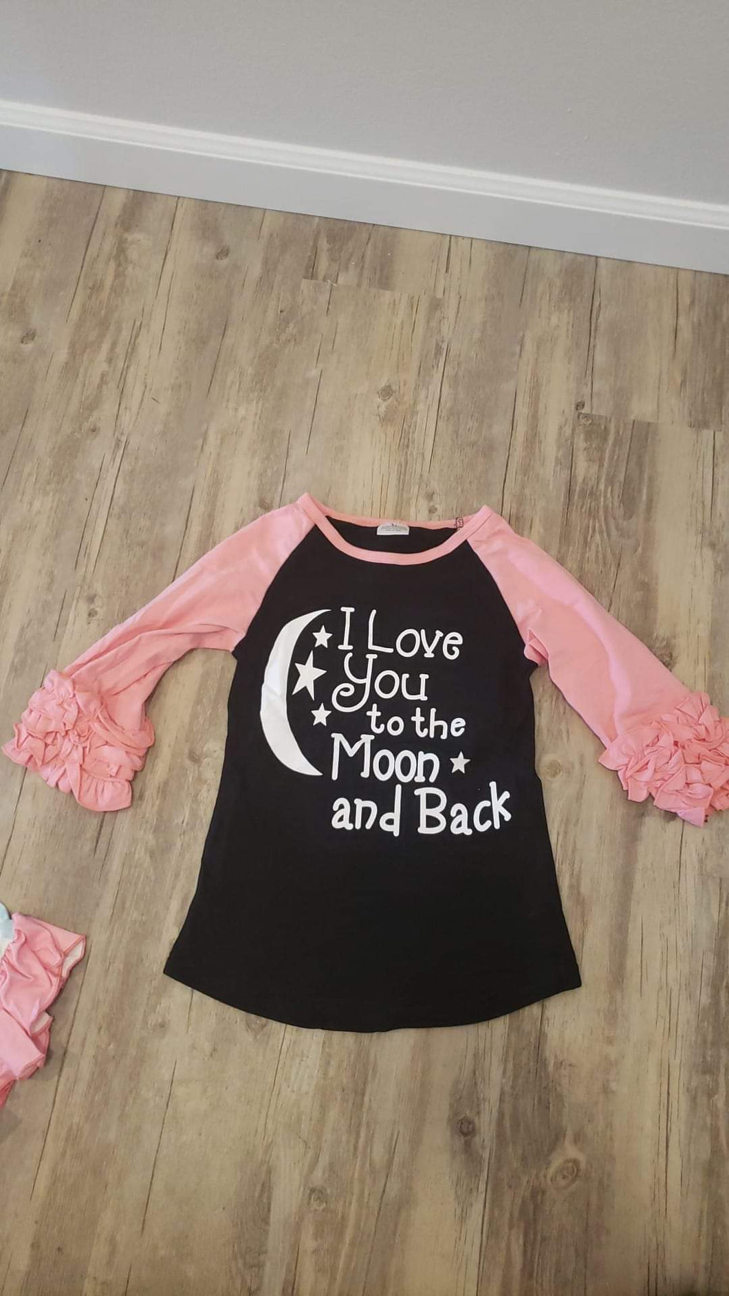 I love you to the moon and back raglan (5/6)